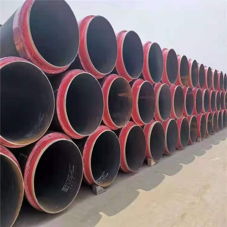 聚氨酯保溫鋼管 鋼套鋼蒸汽保溫管道 預制直埋保溫鋼管 鹽山東岳 實體廠家